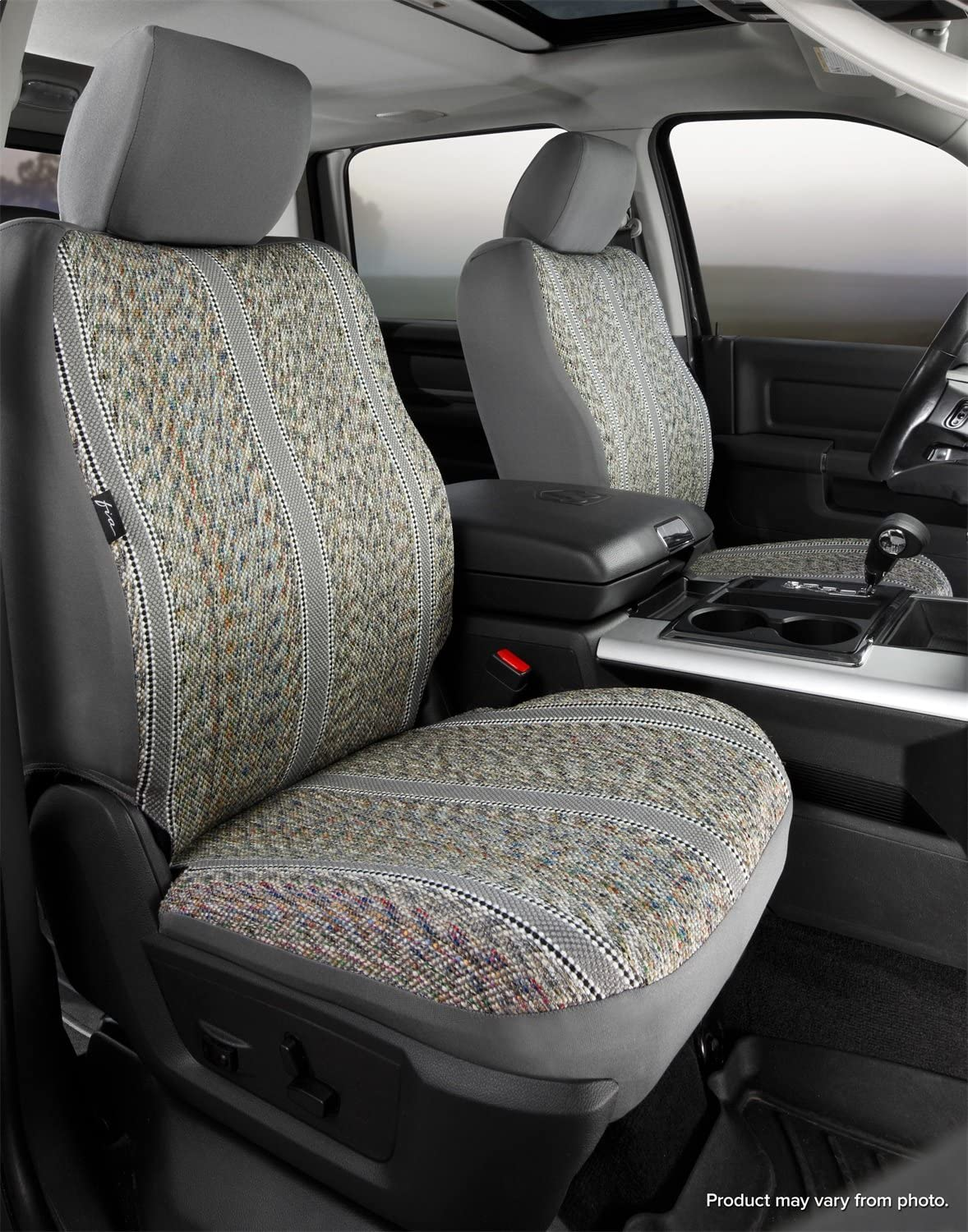 FIA TR49-55 Custom Fit Cover TR49-55 GRAY Front Bucket Seats-Saddle Blanket, Gray