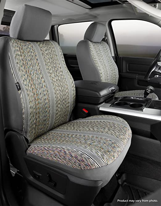 Saddle Blanket, Black Fia TR49-52 BLACK Custom Fit Front Seat Cover Bucket Seats