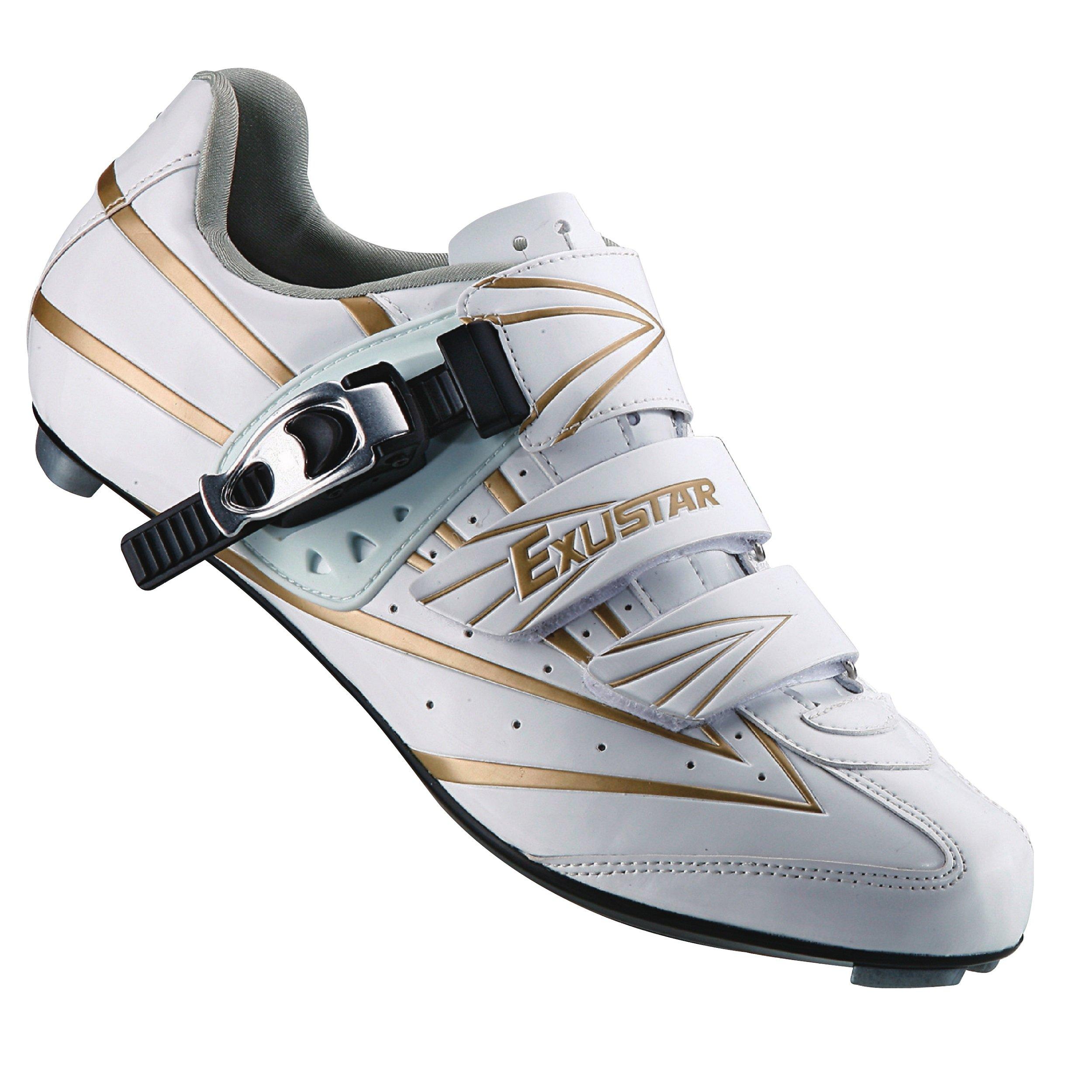 Exustar E-SR911 Road Shoe, White, Size 41