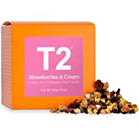 T2 Tea Strawberries and Cream Iced Tea, Loose Leaf Fruit Tea in Gift Cube 100 g, 1 x 100 g