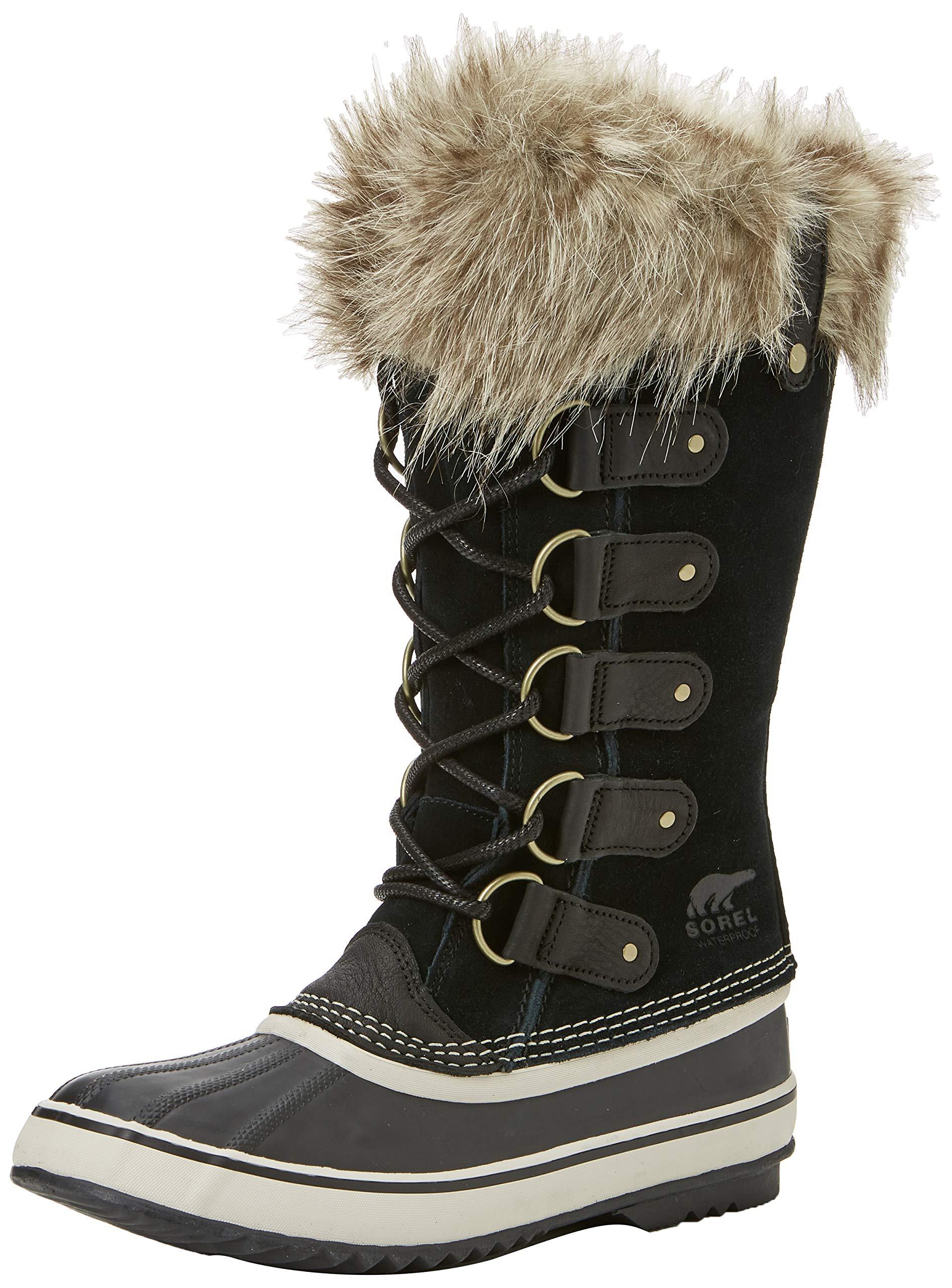 Sorel Women's Joan of Arctic Boot, Black, Stone, 8 M US by Sorel