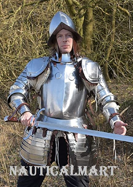 Amazon Com Nauticalmart Plate Armour Half Suit Of Armor With Morion Helmet Sports Outdoors The best i can figure out is if i wear plate, and take off my upper leg protection and my gorget i'm. nauticalmart plate armour half suit