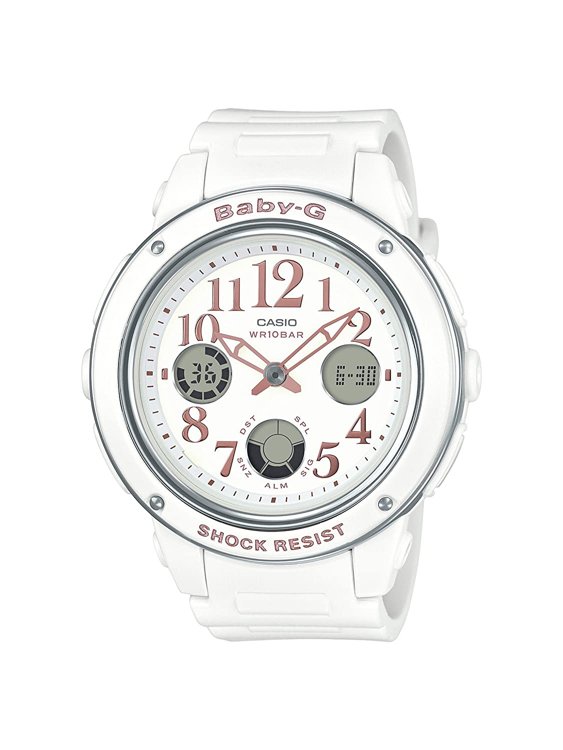5e9928580999 Amazon.com  Casio Women s BGA150EF-7B Baby-G White Watch  Casio  Watches