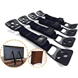 Anti-Tip TV Straps & Furniture Straps  PREMIUM TV Anchors & Furniture Anchors for Child Proofing Home from Tip-Over Incidents (4 Count)