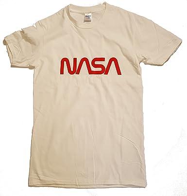 Logotipo de gusano NASA con licencia Camiseta para hombre Premium (Impresión de vinilo): Amazon.es: Ropa y accesorios