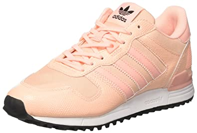 adidas ZX 700, Baskets Basses Femme, Orange Haze Coral/Core Black, 36