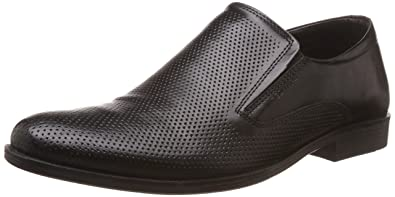 6649583e423 Red Tape Men s Slip On Black Leather Formal Shoes - 11 UK India (45