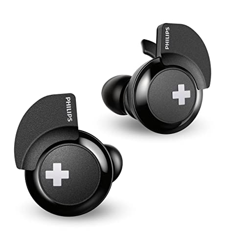 Philips Bass+ SHB4385BK - Auriculares Bluetooth (Manos Libres, sin Cable, Deportivo, con