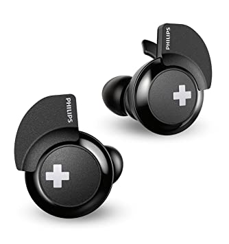 43355f52c7c Philips Bass+ SHB4385BK True Wireless Bluetooth Earphones with Mic, Big  Bass, Stability Fin,