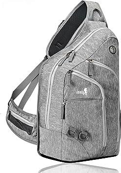 2 FNS 28L Sling Mochila bolsillo en el pecho bolsa de hombro bolsa de deporte con compartimento Laptop acolchado para hombre y mujer