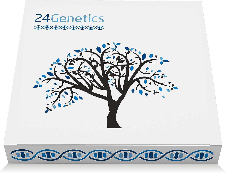 Test de ADN 24Genetics 6 en 1: 400 rasgos únicos acerca de Salud, Nutrigenética, Deporte, Cuidado de la Piel, Farmacogenética y Ancestros