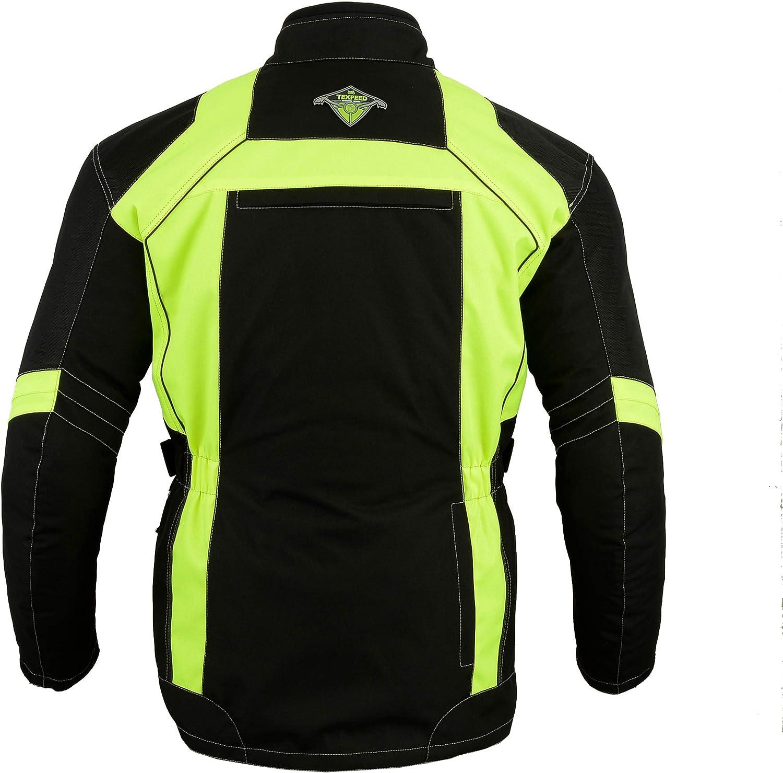Texpeed Textil Motorradjacke Mit Ce Protektoren High Visibility Wasserdicht Größen M 10xl Bekleidung