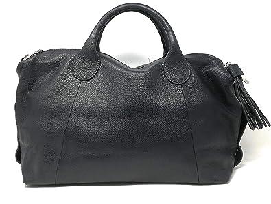 OH MY BAG Sac à Main CUIR femme - Modèle Boolin bleu foncé  Amazon ... ff51a3a27d27