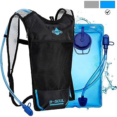 Shayson Mochila de Hydration-2L Bolsas de hidratación y Unisexo Respirable Ultraligero Mochila de Hombro para Ciclismo,Correr,Senderismo,Camping,el maratón y montañismo