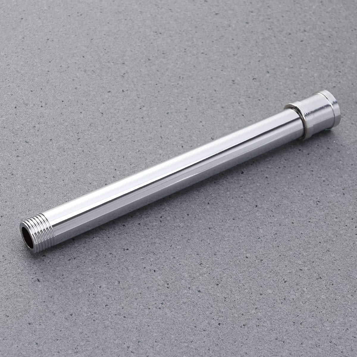 Argent TOPBATHY Tube dextension de Bras de Douche de Longueur de 20 cm avec t/ête en Acier Inoxydable