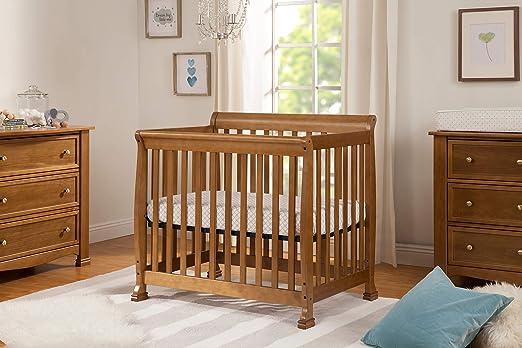 Amazon.com : DaVinci Kalani 2-in-1 Mini Crib and Twin Bed, Chestnut : Baby