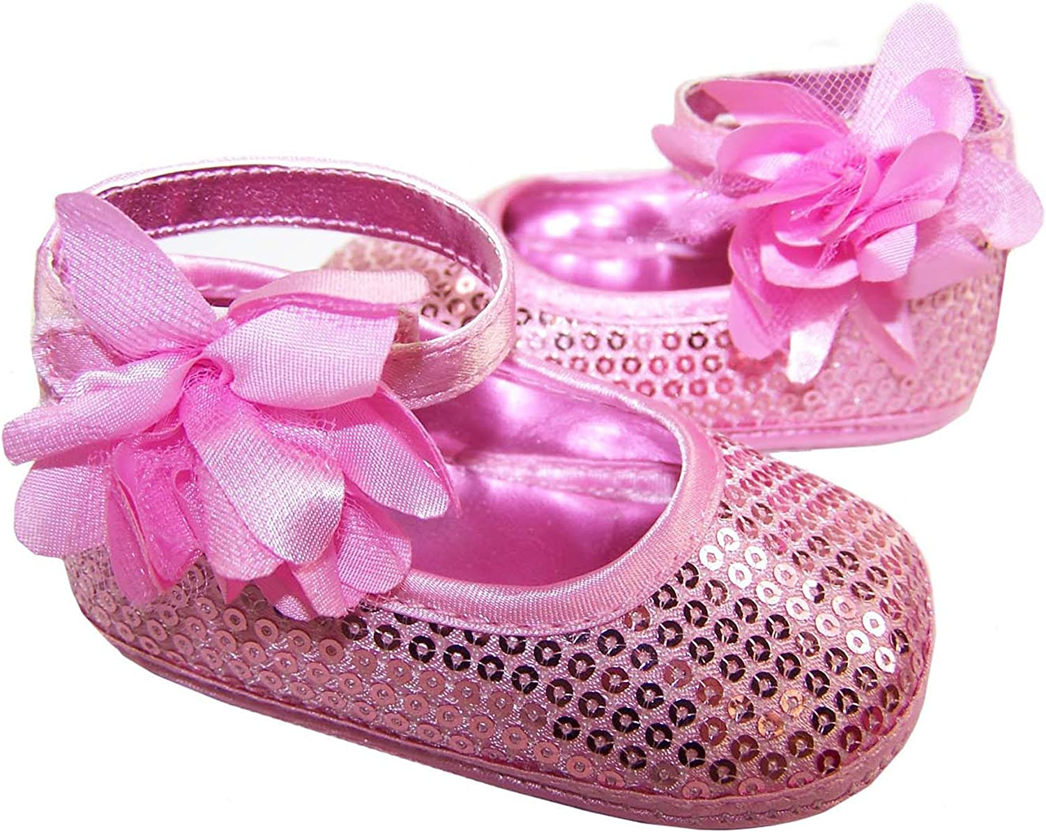 Baby Girl's Soft Sole Pink Sparkly Shoe