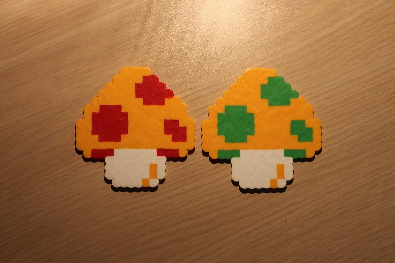 Amazon Com Mushroom Pixel Art Bead Sprite From Super Mario Bros Handmade Download 3 mario pixel free vectors. mushroom pixel art bead sprite