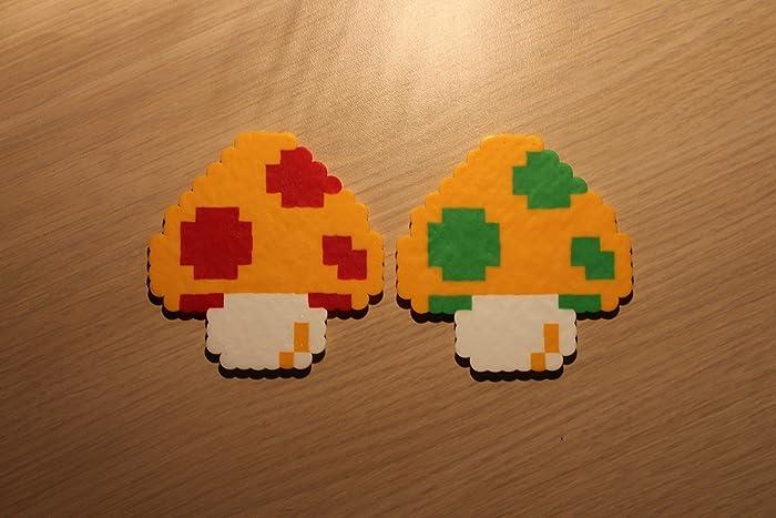 Amazon Com Mushroom Pixel Art Bead Sprite From Super Mario