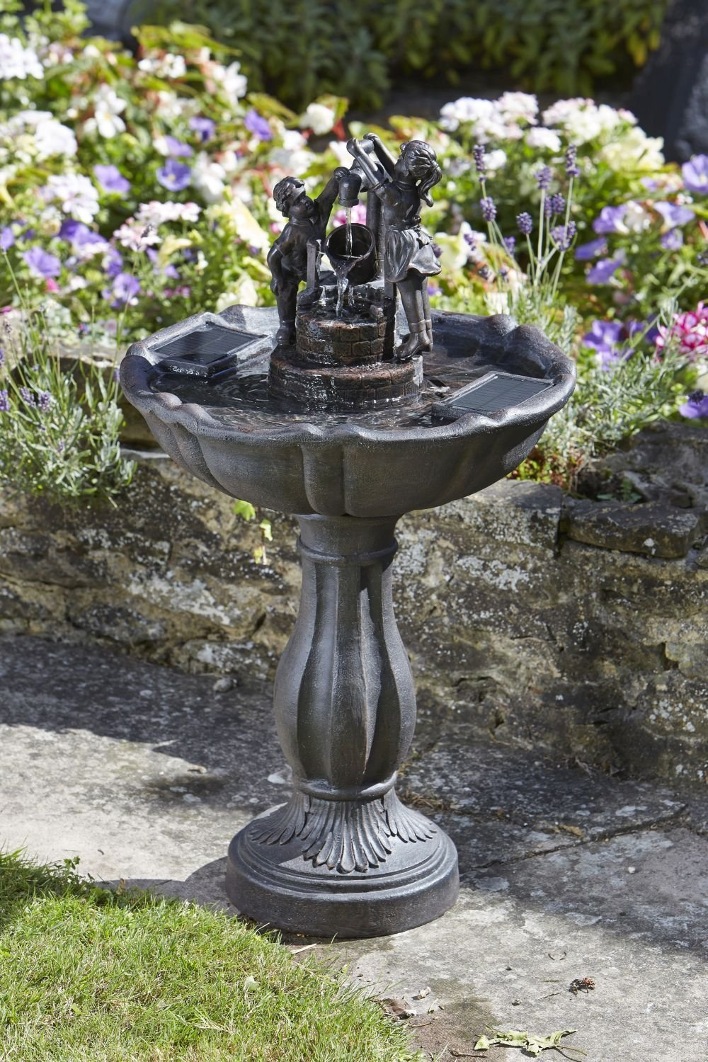 ideas club solar lights outdoor with fountains hardscaping pump garden water for lovers lowes small your fountain kit