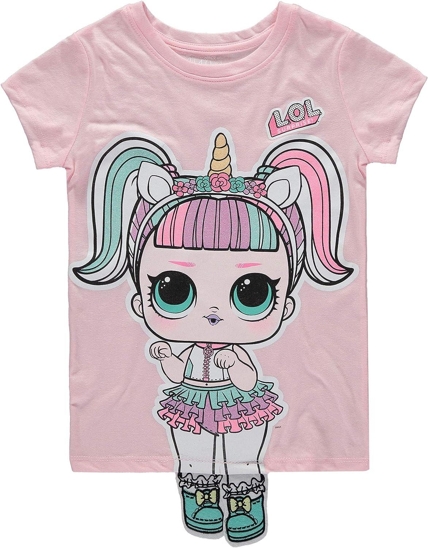 L.O.L. ¡Sorpresa! Playera de manga corta con diseño de muñecas con purpurina - Rosa - Small: Amazon.es: Ropa y accesorios