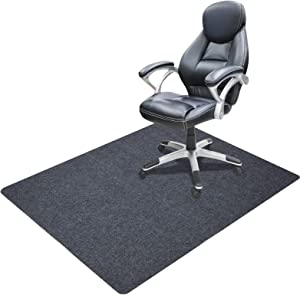Office Chair Mat for Hardwood and Tile Floor, 35 x 55 inches 0.16 Thick Rectangular Carpet Low-Pile Desk mat - Multi-Purpose for Office Home Protector (35