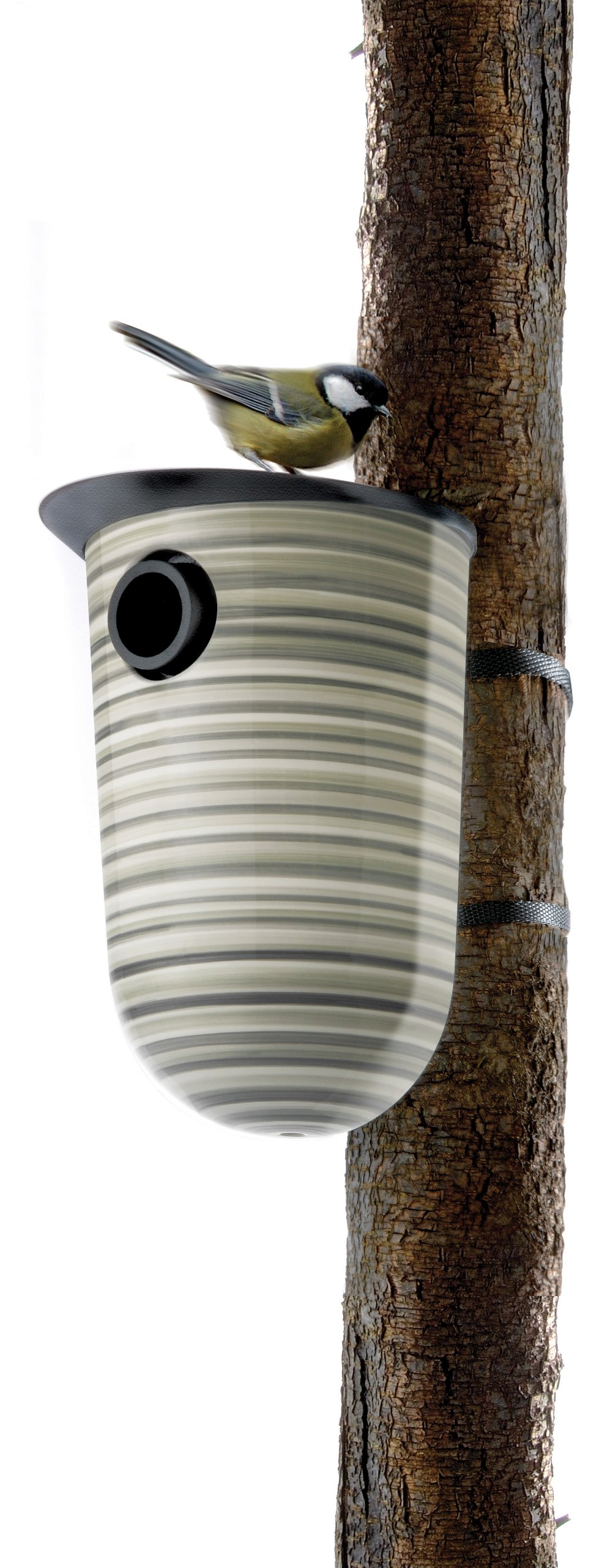 Eva Solo 571140 Bird Nesting Box, Striped