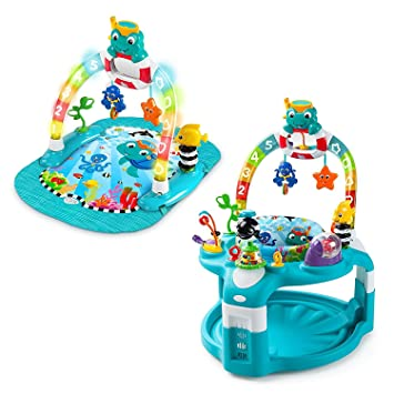 d218f746b Amazon.com   Baby Einstein 2-in-1 Lights   Sea Activity Gym   Saucer ...