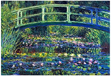 Amazon.com: Claude Monet Water Lily Pond #2 Art Print Poster 19 x ...