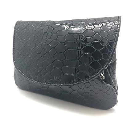Cartera Portamonedas Monedero para Mujer Marca: Lugupell - Color: Serpiente Negro (12,