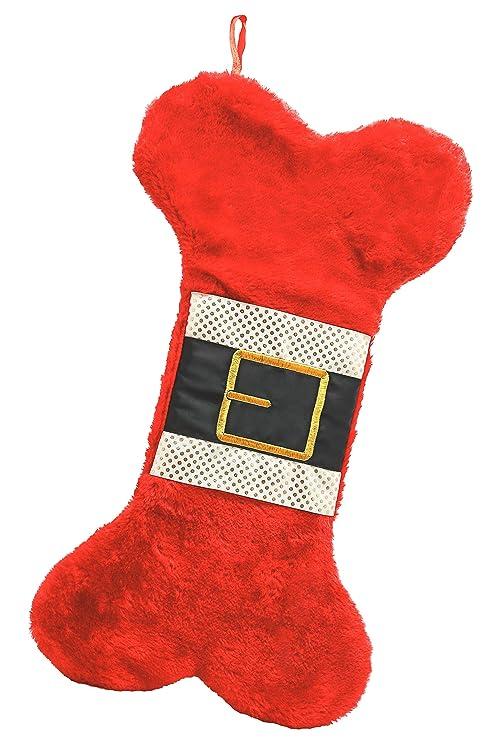 Dog Bone Christmas Stocking.Amazon Com Pearhead Dog Bone Christmas Stocking Pet Supplies