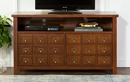 Delicieux WE Furniture 52u0026quot; Apothecary Wood TV Console, ...