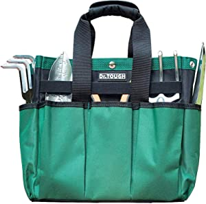 AISENIN Garden Tool Bag,Gardening Tote Bag with 10 Pockets, Gardeners Storage Bag Tote Organizer Yard Plant Tool Carrier Bag Pouches