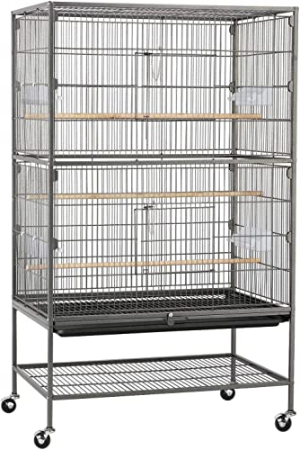 YAHEETECH 52-Inch Wrought Iron Ferret Chinchilla Sugar Glider Squirrel Small Animal Cage