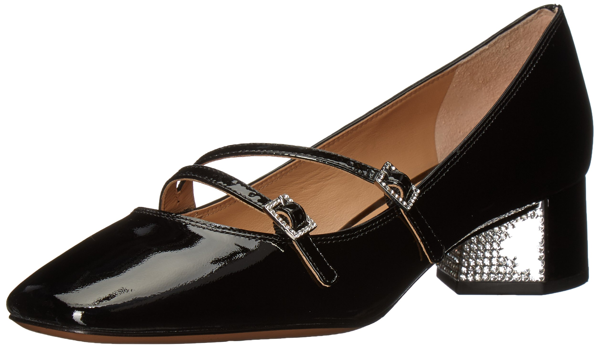 Marc Jacobs Women's Bella Strass Mary Jane Pump, Black, 37 M EU (7 US)