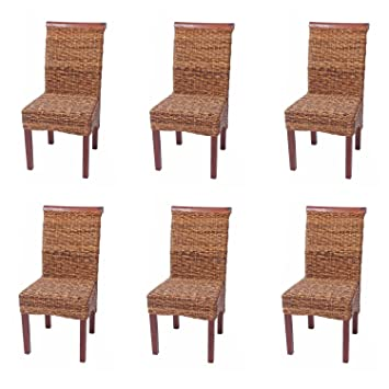 Set 6x sedie M45 intreccio di banano gambe chiare 96x46x55cm ~ senza ...