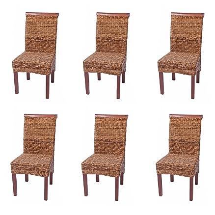 Set 6x sedie M45 intreccio di banano gambe chiare 96x46x55cm ...