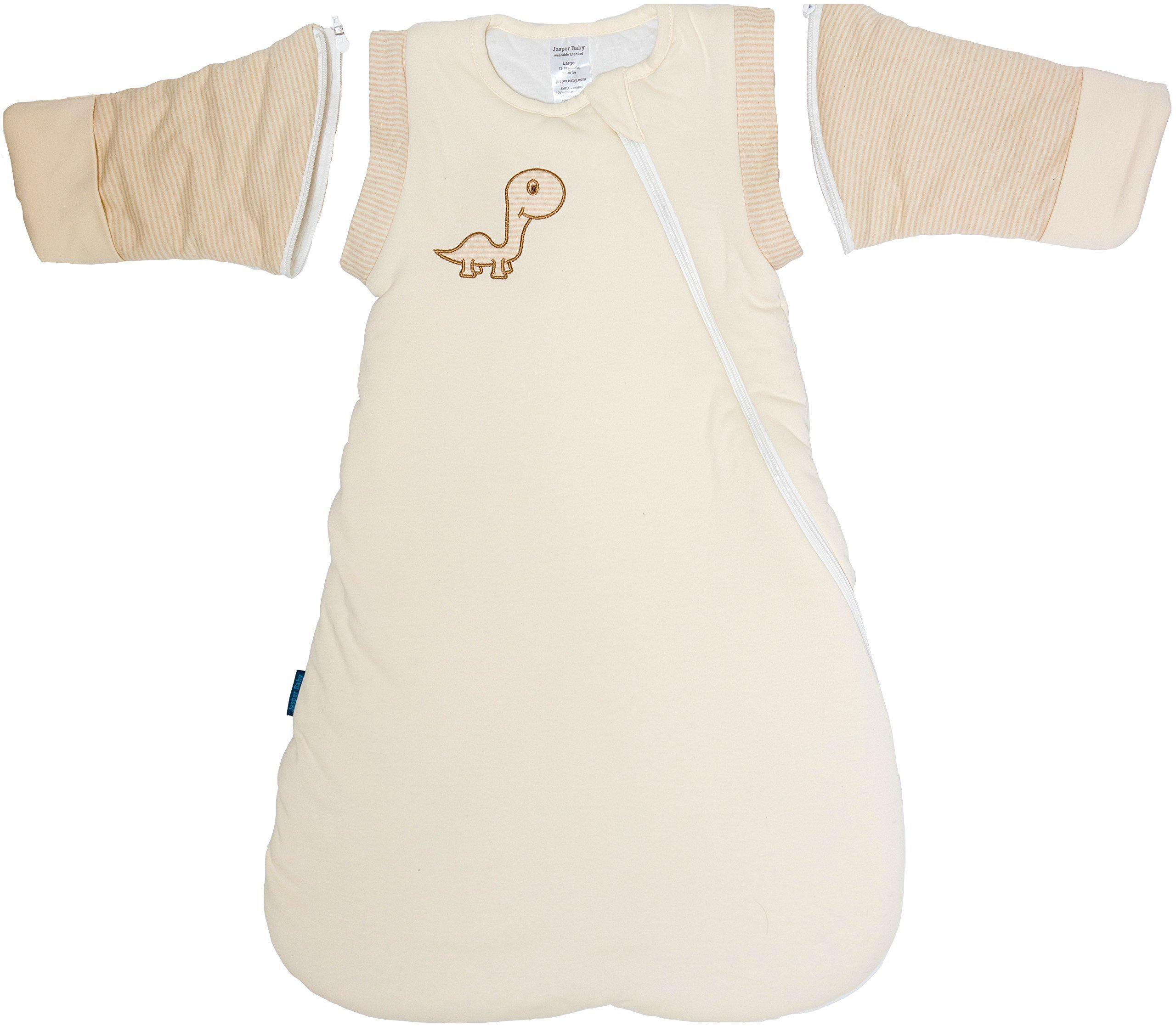 Jasper Baby Attachable Long Sleeves Winter Luna Wearable Blanket (Large 14-20 Months