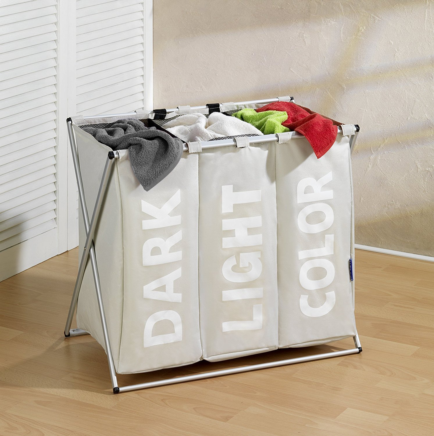 Labeled Foldable Laundry Basket