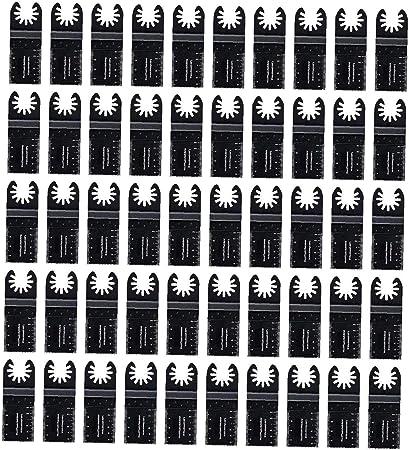 50 Madera oscilante versi/ón multiherramienta r/ápida Hojas de sierra compatibles con Fein Multimaster Porter Cable Negro y Decker Bosch Dremel Craftsman Ridgid Ryobi Makita Milwaukee Dewalt Rockwell
