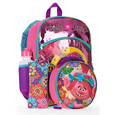 Trolls Girl's Backpack 5 Piece Set: Toys & Games