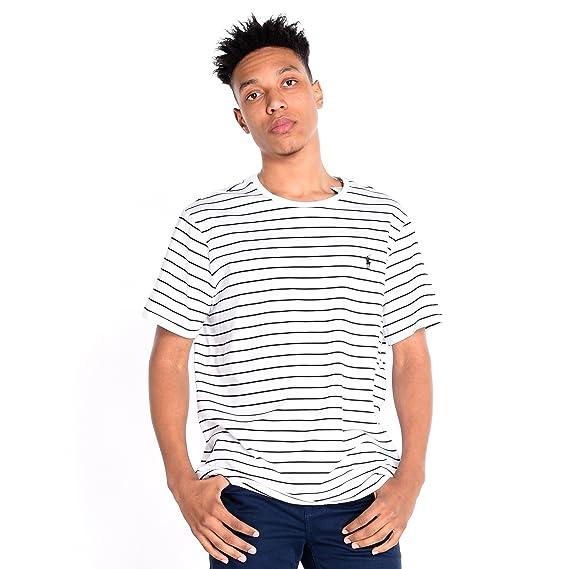 Polo Ralph Lauren SS Cn Cmfit Ppc-Camiseta Hombre Weiß XL: Amazon ...