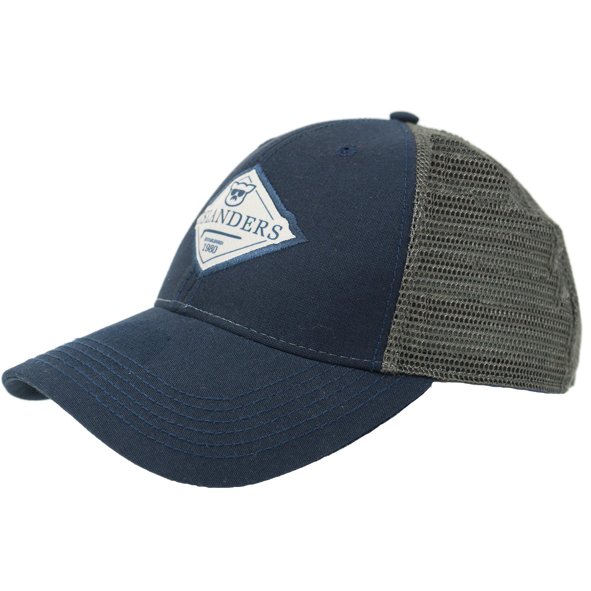 923ed387146182 Islanders Diamond Patch Trucker, Navy/Grey, One Size