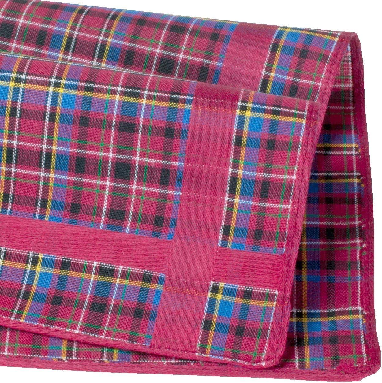 100/% cotton 16-6 units Tartan handkerchiefs /« Glencoe /»