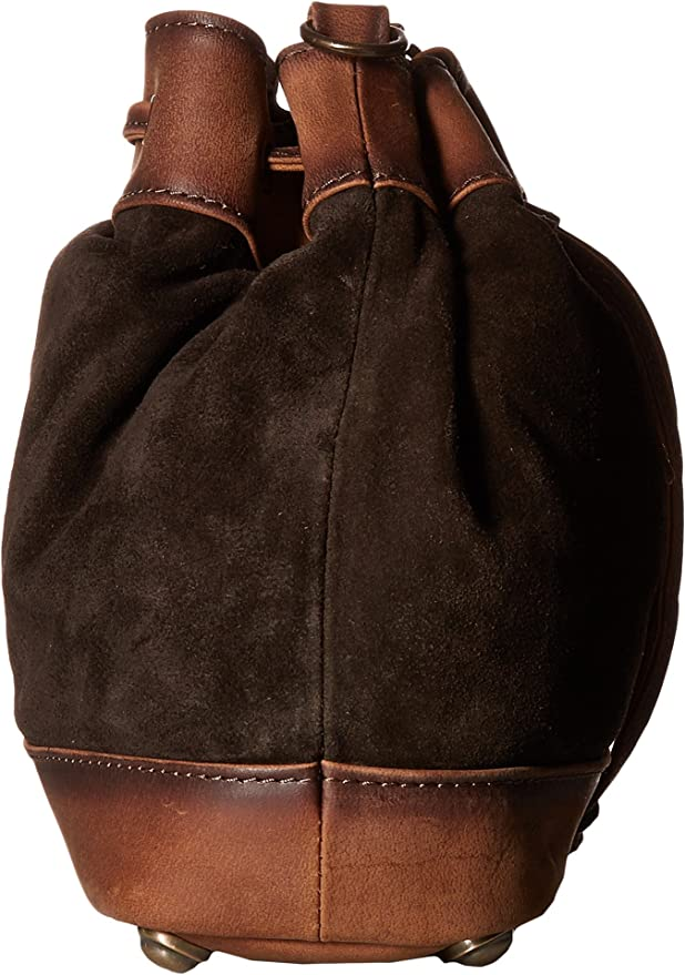 473c1851003 Amazon.com  STS Ranchwear Women s Heritage Bucket Bag Chocolate Suede Tornado  Brown One Size  Clothing