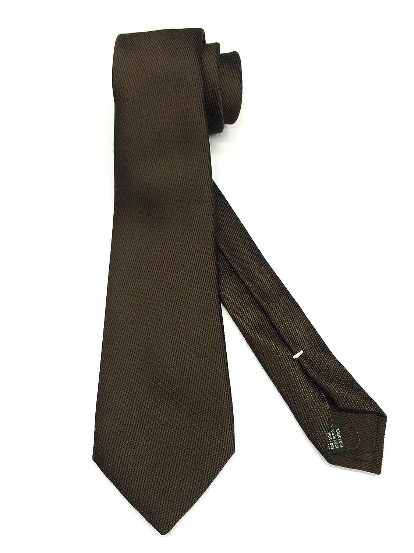 Real Luxury Napoli - Corbata de 7 pliegues de seda, color marrón ...