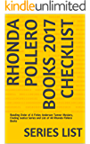 Rhonda Pollero Books 2017 Checklist: Reading Order of A Finley Anderson Tanner Mystery, Finding Justice Series and List of All Rhonda Pollero Books