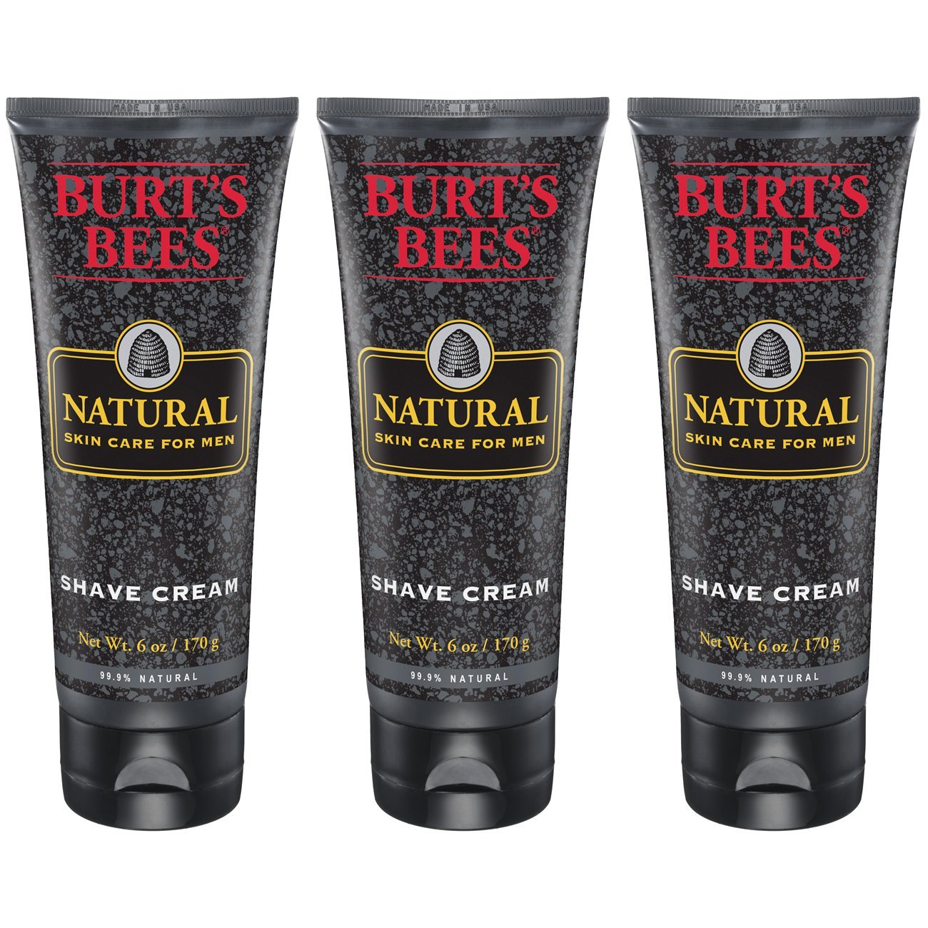 Burt's Bees Natural Skin Care for Men Shave Cream, 6 Ounces, Pack of 3 Burt' s Bees hbf-jjj-omgh-mh3169
