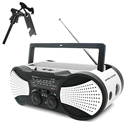 Decoration VIOY Radio Emergency Light Hand Crank Power Generation Multifunction Charging Portable,White,One Size Nursery
