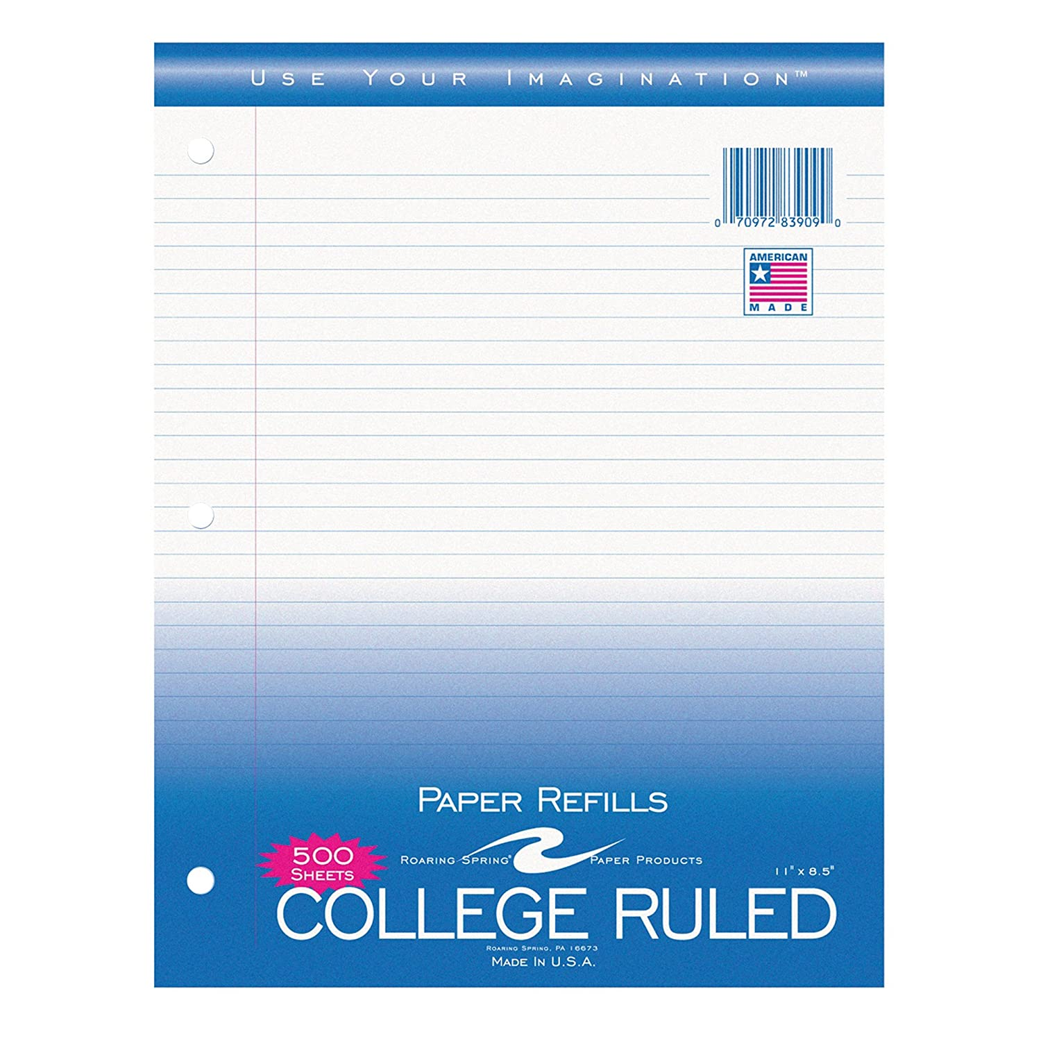 amazon com roaring spring filler paper college ruled 8 5